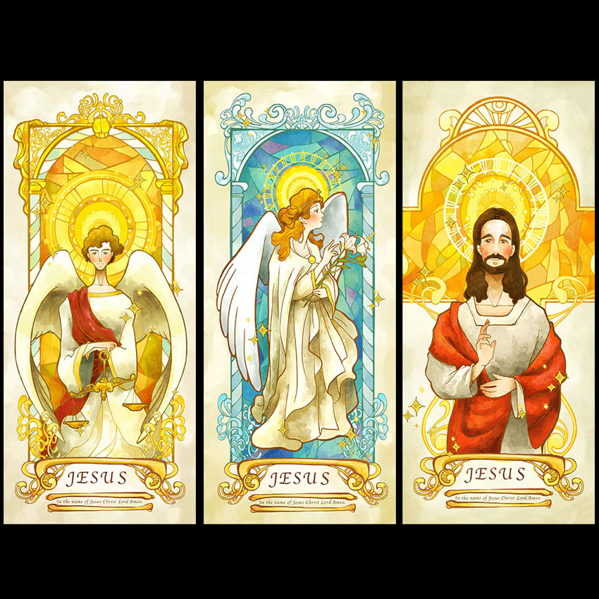 Jesus Christ Top Grade PVC Self Adhesive Window sticker Frosted Privacy Window Film Home Decorative Custom Size