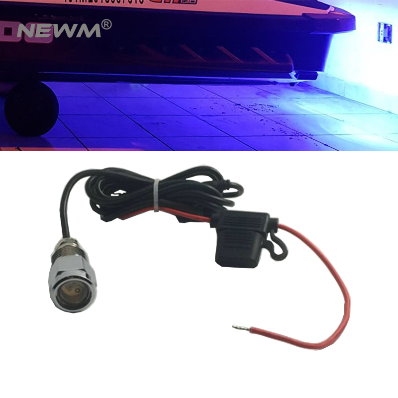1pc LED Underwater Lights for Boats with connector 9W Waterproof IP68 Blue Color Drain Plug Light Marine Yacht 720LM for fishing high quality white blue red 9w led boat yacht drain plug light bronze housing waterproof underwater waterproof marine light ip68