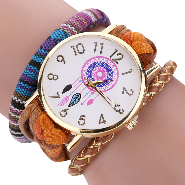 Excellent Quality New Vintage Women Watch Native Handmade Quartz Watches Knitted