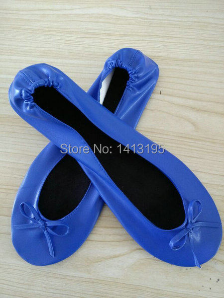 Wholesale royal blue party foldable flat after party ballet flats for  dancing 4861e2b6de