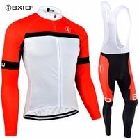 BXIO zimowe polarowe termiczna zestawy rowerowe profesjonalna odzież do kolarstwa drużynowego długi rękaw rower ubrania Invierno Ropa Ciclismo Hombres 090 w Zestawy rowerowe od Sport i rozrywka na