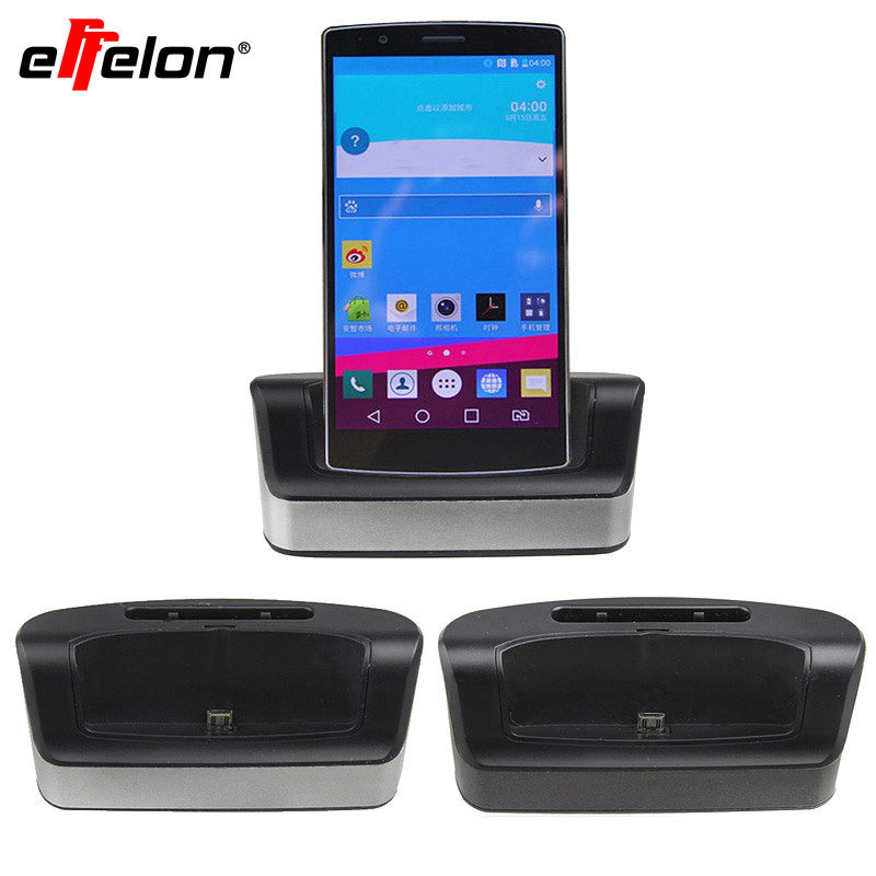 Kostenloser Versand Dual Sync Telefon Akkuladegerät Cradle Dock Station Stand + OTG-Funktion + USB-Kabel Für LG G4