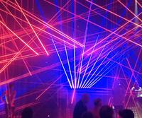 professional 200mW Red beeline laser mini disco laser spider stage party club KTV wedding studio lighting DMX 512