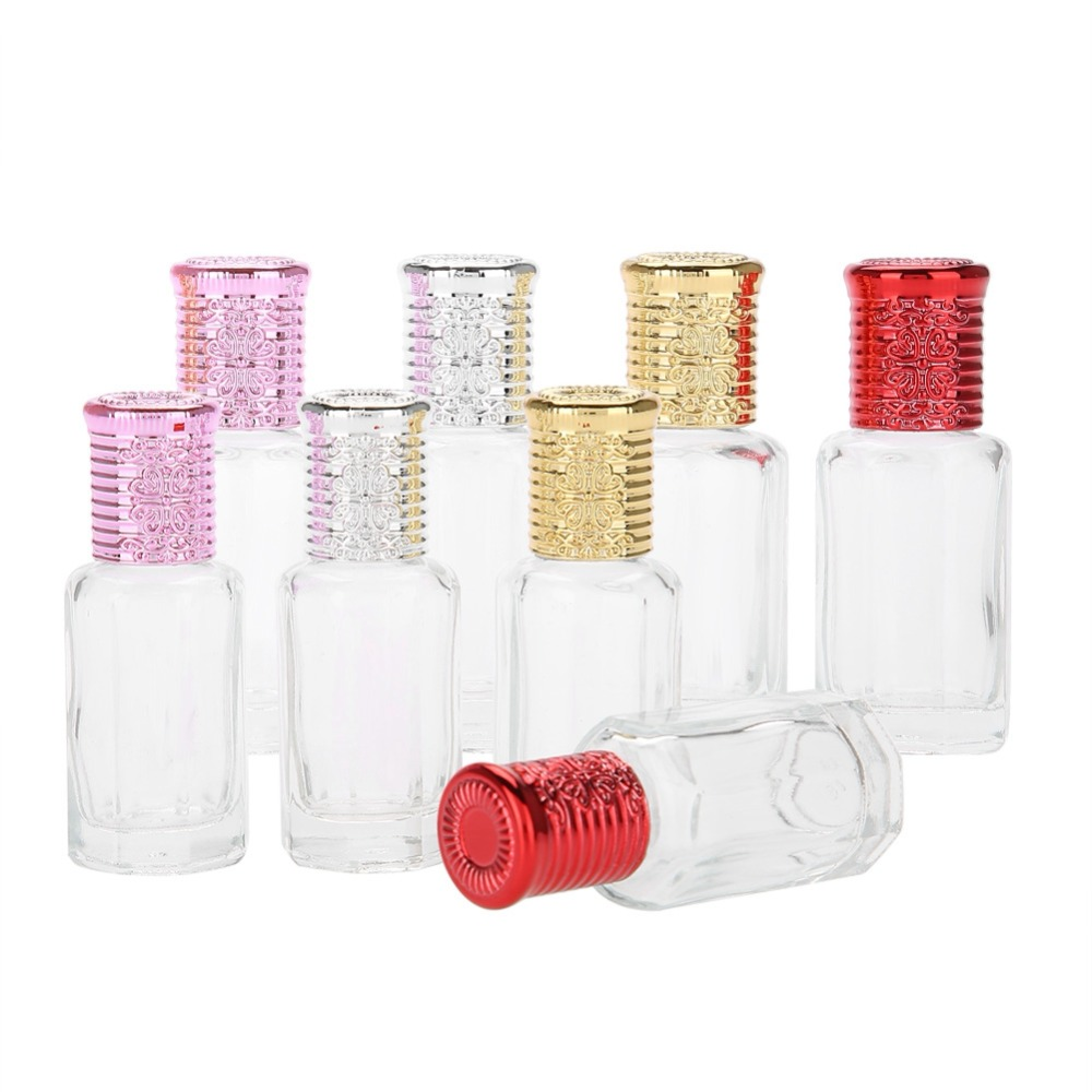 Plastic Bottle 2PCS 36ml1012ml Mini Empty Glass Roller Bottle Perfume Essential Oil Bottles Roller Ball For Travel Accessory
