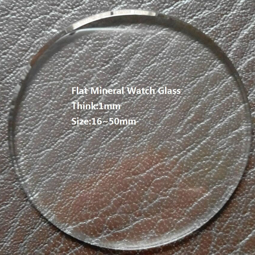 Excellent Quality 16mm~50mm Size Selectable 1mm TH Watch Crystal Glass,Mineral Watch Glass Parts watch crystal