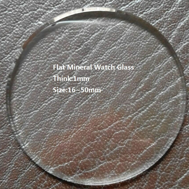 Excellent Quality 16mm~50mm Size Selectable 1mm TH Watch Crystal Glass,Mineral W