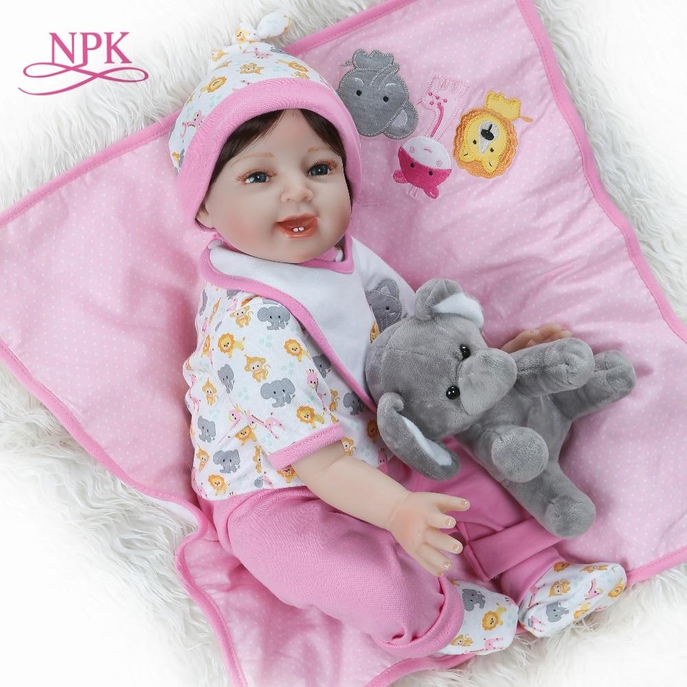 NPK 55 cm Reborn bébé poupées réaliste fille princesse 22 pouces bébé poupées vivantes Reborns enfant en bas âge bebe jouets pour enfants cadeaux-in Poupées from Jeux et loisirs    1