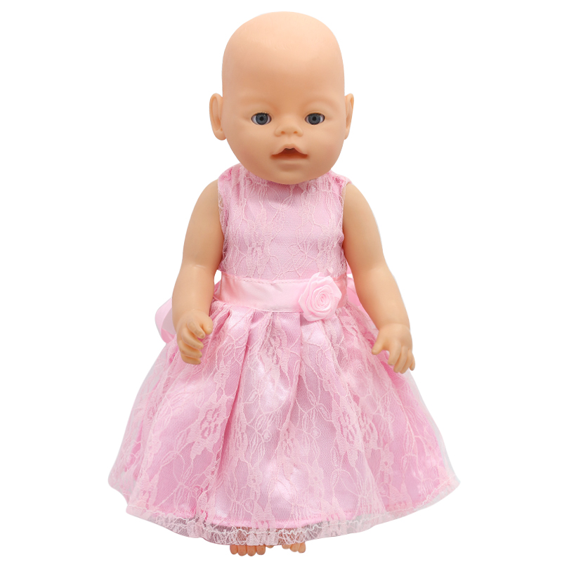 Zapf Baby Born Doll Clothes 15 Styles Cute Princess Skirt Dress Fit 43cm Zapf Baby Born Doll Accessories Girl Gift X-172  baby born doll clothes pink retro princess dress fit 43cm baby born zapf or 17inch doll accessories high quality love 182