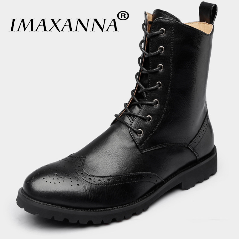 IMAXANNA New 2018 Autumn Winter Shoes Men Winter Boots Genuine Leather Warm Footwear Fashion Men's Boots Male Brand Ankle Boots mulinsen new 2017 autumn winter men