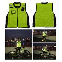 형광 노란색 오토바이 자전거 레이싱 높은 보이는 반사 재킷