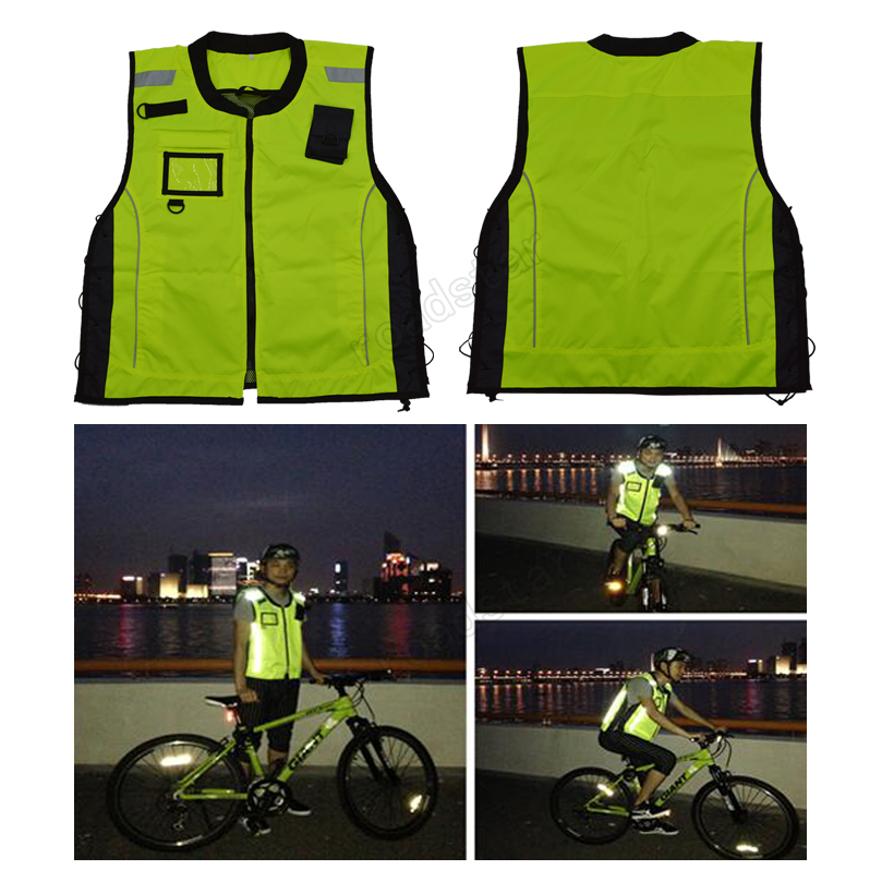 Fluorescent Yellow motorcycle bike racing high visible reflective jacket fluorescent orange yellow high