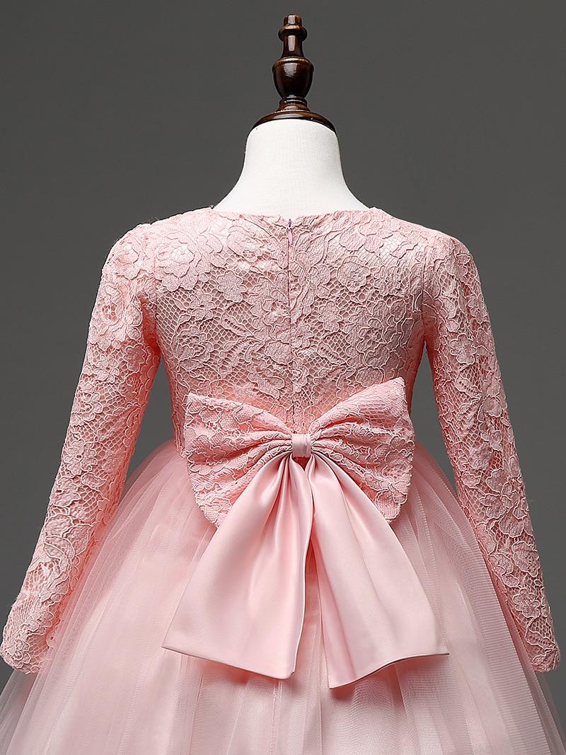 Bebé Niñas vestido de encaje Rosa Blanco ropa marcas partido arco 4 ...