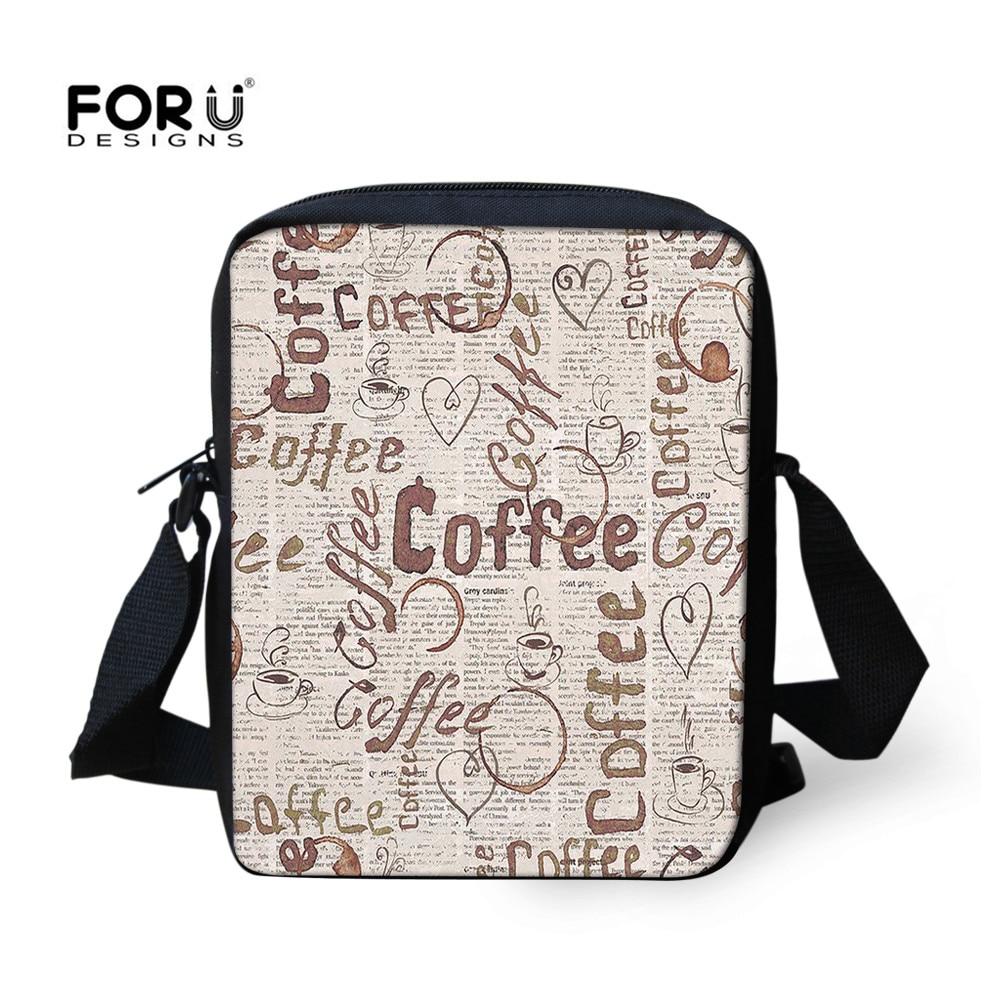 c8c8f01df34e FORUDESIGNS Small Casual Messenger Bag For Women Men Coffee Children Cross  Body Bag Girls Lady Casual Shoulder Bags With Zipper