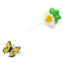 Electric Plastic Rotating Butterfly Steel Wire Funny Pet Kitten Toys Cat Teaser Play Pet Toy Pet Products Supplies