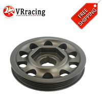 FREE SHIPPING Aluminum Racing Light Weight Aluminum For Civic EK9 Integra DC2 Type R Crank Pulley CTR VR CP010