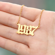 Custom Number 1998 Necklaces Collar Mujer Stainless Steel Personalized Necklace Jewelry