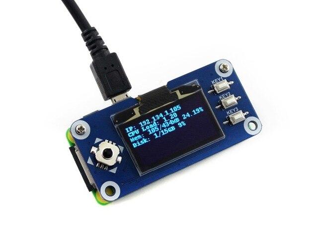 Waveshare 1.3 calowy wyświetlacz OLED kapelusz dla Raspberry Pi 128x64 pikseli z wbudowanym kontrolerem interfejs SPI/I2C