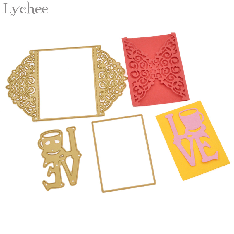 Love Envelope Metal Card Cutting Dies Stencils DIY Scrapbooking Album Decor