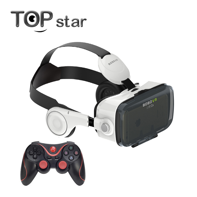 Prix pour Xiaozhai BOBOVR Z4 3D Immersive Réalité Virtuelle 3D VR Lunettes Casque Théâtre Privé Avec Casque + Bluetooth Gamepad