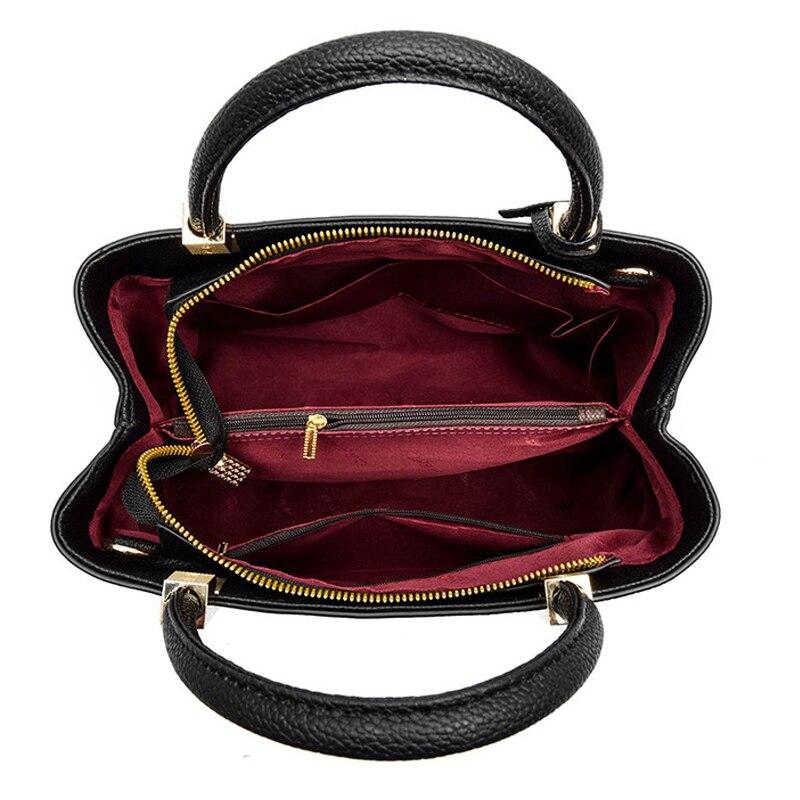 3 PCS Women Leather Handbags Composite Bag Large Shoulder Bag Female Messenger Bag Purse Office Ladies Tote Bags For Women 2018 4