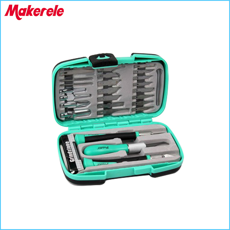 PD-395A Carving Tools Steel Knife Detail Chisel Craft Tool 30pcs Set Paper Cutting Knife Woodcut