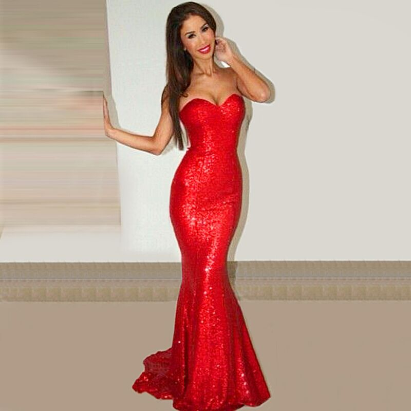 Compare Prices on Long Red Sequin Dress- Online Shopping/Buy Low ...