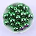 Frete Grátis 20 MM 100 pçs/lote Chunky Bubblegum Acrílico Contas Sólidos UV Verde Férias Contas Para Jóias # CDWB-517712