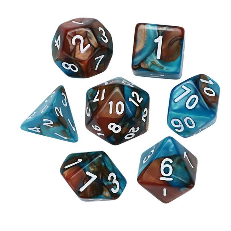 7 pcs Digital D4-D20 Multi Faces Poliédrico Dice Game Dungeons & Dragons Dice de Acrílico Para Jovens Festa Entretenimento #2N22