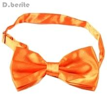 Classic Tuxedo Mens Bowtie Adjustable Wedding Groom Party Solid Orange Bow  Tie BT19(China) d190f6d3ce9c