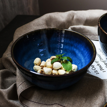 NIMITIME Ceramic Porcelain Retro Salad Soup Fruit Bowl Rice Noodle Bowl Dinnerware