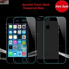 2pcs lot front back Tempered Glass For iPhone 5 5S 6 6s plus 4 4S Screen