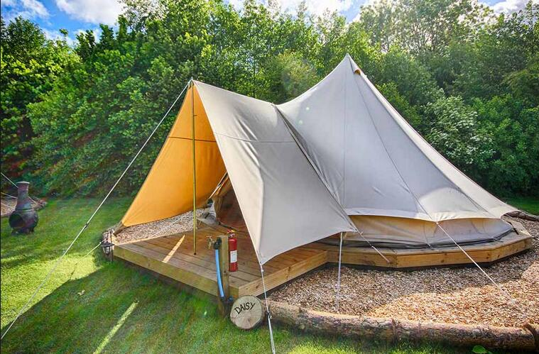 3M/4M/5M/6M Waterproof Fireproof Cotton Canvas Family C&ing Bell Tent with tarp-in Tents from Sports u0026 Entertainment on Aliexpress.com | Alibaba Group & 3M/4M/5M/6M Waterproof Fireproof Cotton Canvas Family Camping Bell ...