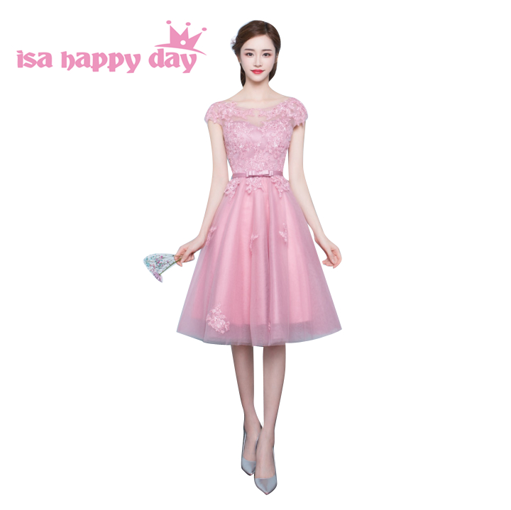 ٩(^‿^)۶Bellamente modestos Corea dama braidsmaid bridesmade vestidos ...