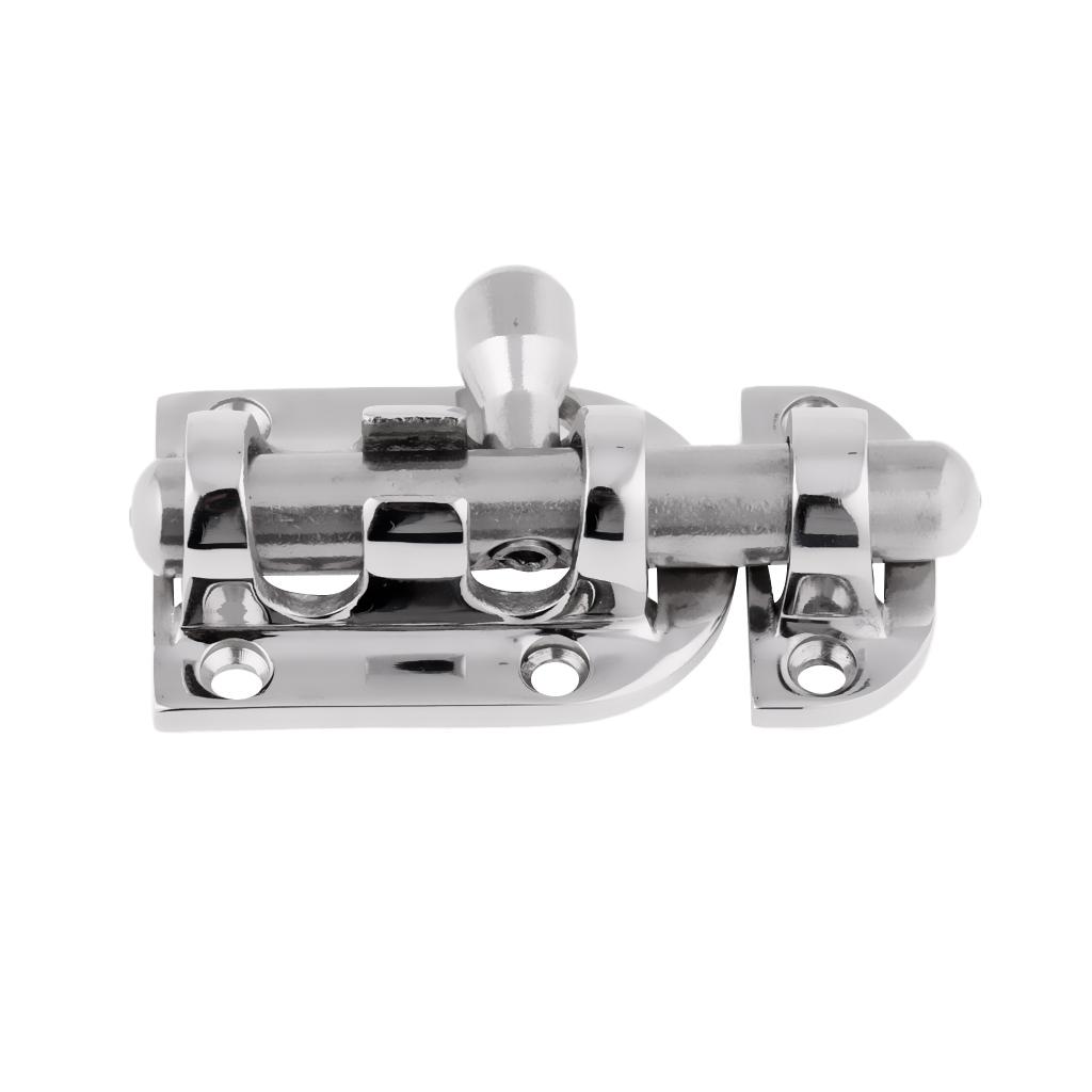 Image 2 - High Polished 316 Stainless Steel Marine Boat Barrel Bolt Sliding Cabin Door Hatch Latch Lock 6cm Length 60 x 30mm-in Marine Hardware from Automobiles & Motorcycles
