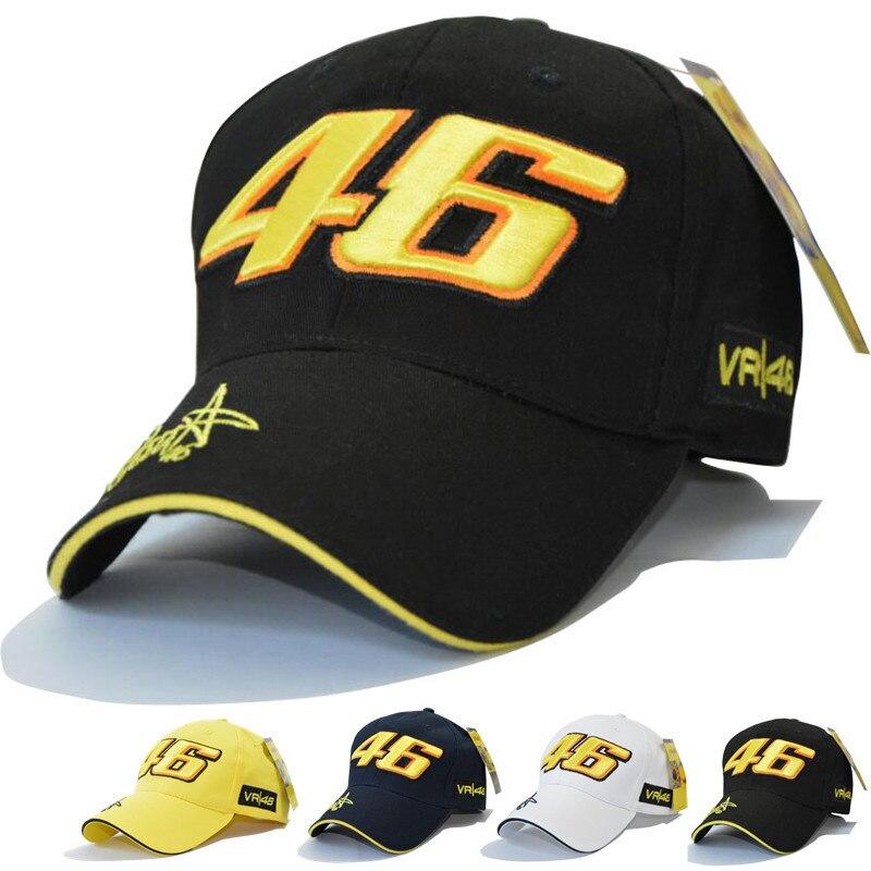 New Design F1 Racing Cap Car Motocycle Racing MOTO GP VR46 Rossi Embroidery Sport Hiphop Cotton Trucker Baseball Cap Hat