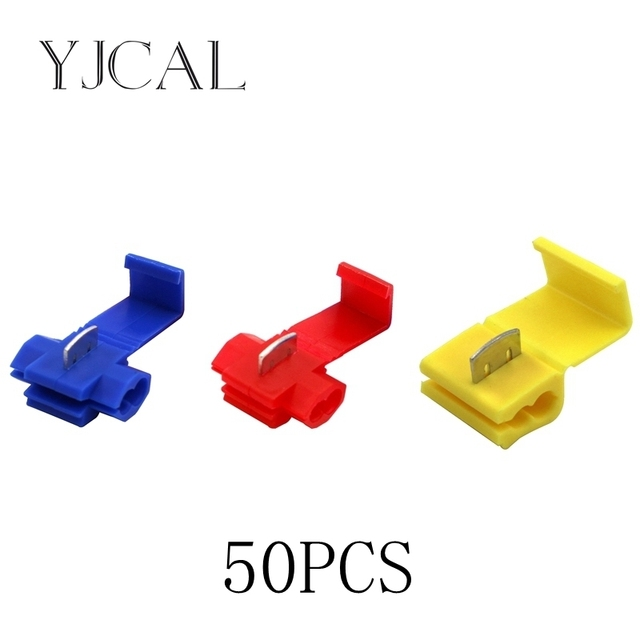 50PCS Scotch Lock Electric Wire Cable  Connectors Quick Splice Terminals Crimp Non Destructive Without Breaking Line AWG 22-18