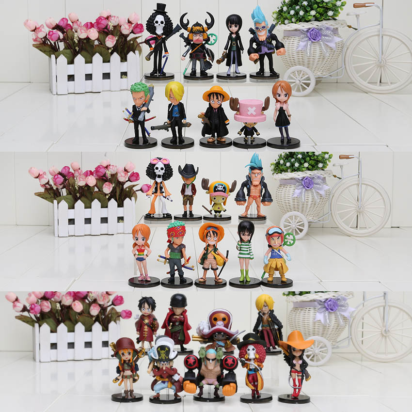 27pcs set Anime One Piece Film Z Luffy Nami Zoro Sanji Movie Familys PVC Action Figure