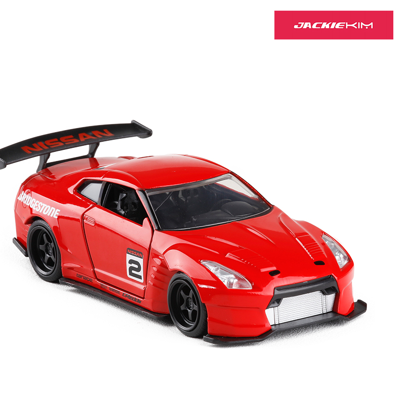 JADA 1/32 Scale Car Model Toys JDM Nissan GT-R R35 Diecast Metal Car Model Toy For Collection/Gift/Kids/Decoration