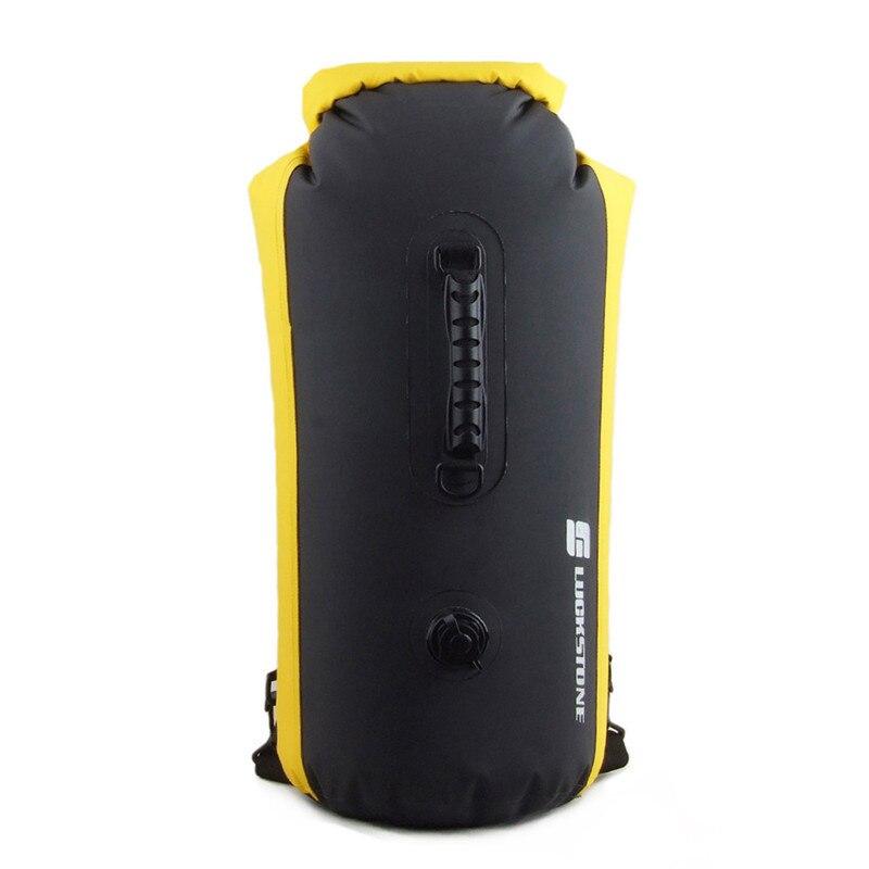 60L Professionnel PVC Sac Étanche Dry Piscine Dérive Gonflable Sac À Dos Kayak Rafting Camping Randonnée Sac À Dos