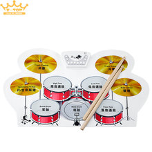 Silicone Electronic Up Drum Kit with Drumsticks Foot Pedal Musical