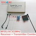 MyFlyDream MFDLink RLink 433MHz 16CH 50KM Remote Control Extended Range Long Range UHF RX Receiver & TX Transmitter Set