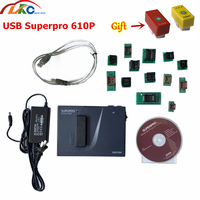 2019 Original High speed Device Xeltek Superpro 610P with 13 Adapters USB Universal IC Chip Programmer ecu Programming