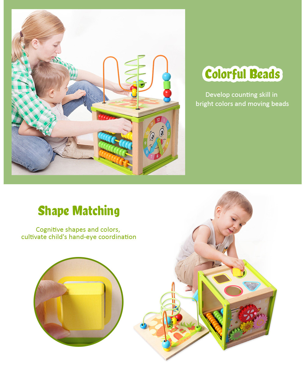 Baby Educational Toy Kids Wooden Bead Maze (1)