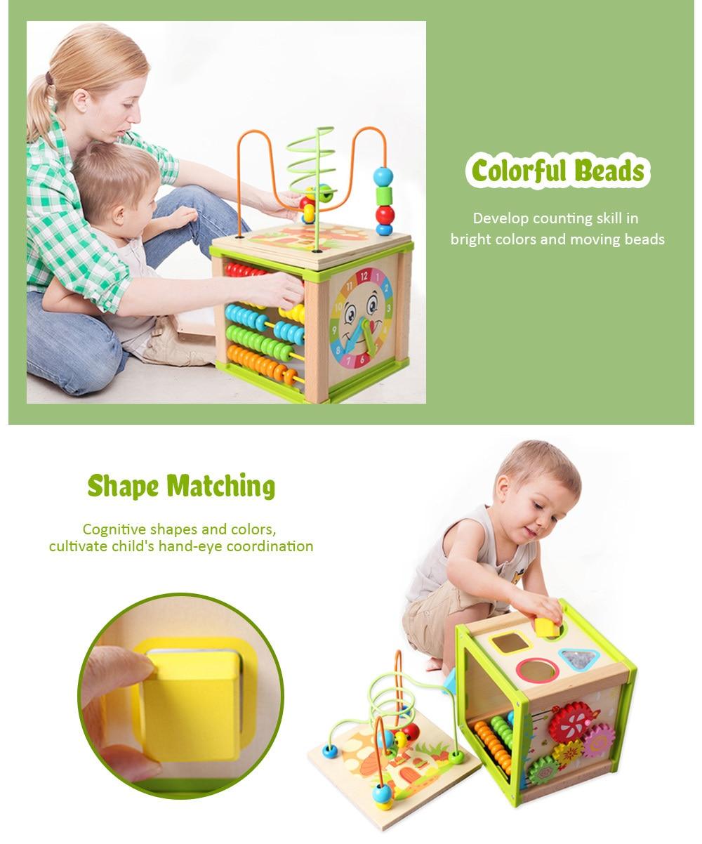 Laberinto de cuentas de madera para niños de juguete educativo para bebés (1)