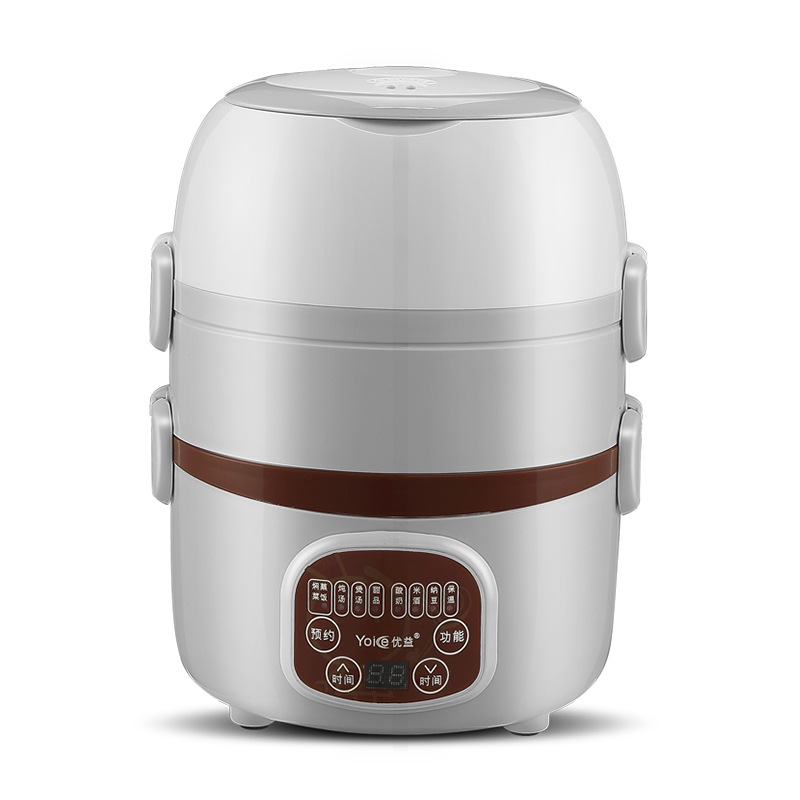 Stainless Steel Automatic Electric Lunch Box 3 Layers Pluggable Insulation Heating Cooking Electric Rice Cooker Hot Rice Steamer 1 8l electric lunch box three layers pluggable insulation heating cooking rice cooker stainless steel electric hot rice cooker