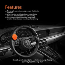 Car Steering Wheel Spinner Colourful Car Steering Wheel Booster Ball Non-slip Silicone 360 Degree Free Rotation Knob Handle Ball car steering wheel spinner knob power handle grip ball silver grey