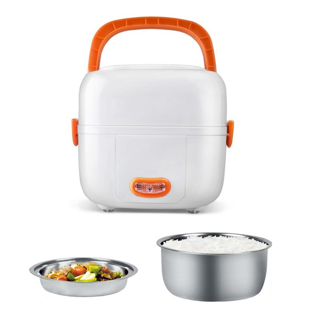 Multifunctional Electric Lunch Box Mini Rice Cooker Portable Food Heating Steamer Heat Preservation Lunch Box EU Plug bear dfh s2516 electric box insulation heating lunch box cooking lunch boxes hot meal ceramic gall stainless steel