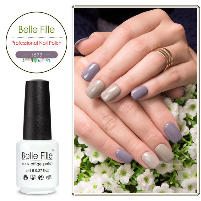 Belle Fille 8ml women\'s Day Wedding Party Nail Gel Polish Colors ...