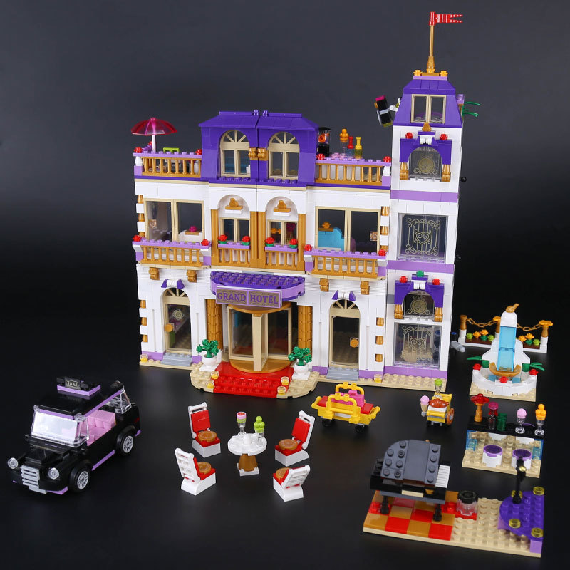 BELA 10547 Girls Friends Heartlake Grand Hotel Building Blocks Kid house Model DIY Bricks Toys gift Compatible With 01045 731pcs friends heartlake city princess emma s house 10541 model building blocks assemble bricks toys luis compatible with lego