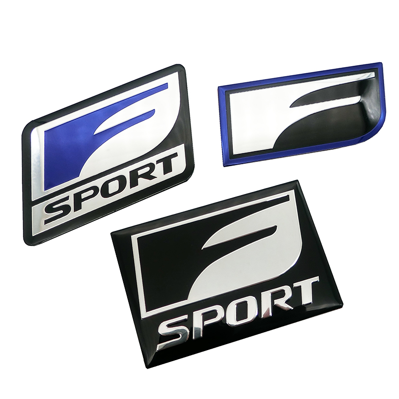 Car Sticker Badge Emblem aluminum Decal For <font><b>Lexus</b></font> F SPORT IS ISF GS RX RX300 <font><b>RX350</b></font> ES IS250 ES350 LX570 CT200 Styling Accessorie image